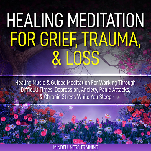 Healing Meditation for Grief, Trauma, & Loss: Healing Music & Guided Meditation For Working Through Difficult Times, Depression, Anxiety, Panic Attacks, & Chronic Stress While You Sleep (Self Hypnosis for Anxiety Relief, Stress Reduction, & Relaxation), Mindfulness Training