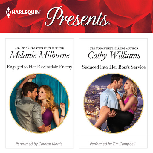 Engaged to Her Ravensdale Enemy & Seduced into Her Boss's Service, Cathy Williams, MELANIE MILBURNE