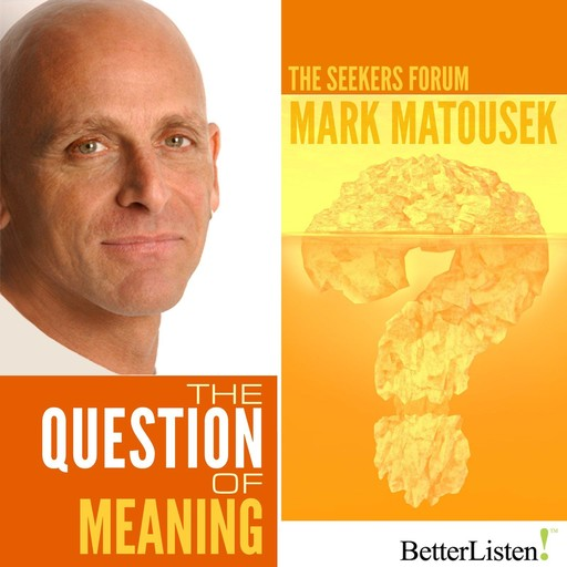 The Question of Meaning, Mark Matousek