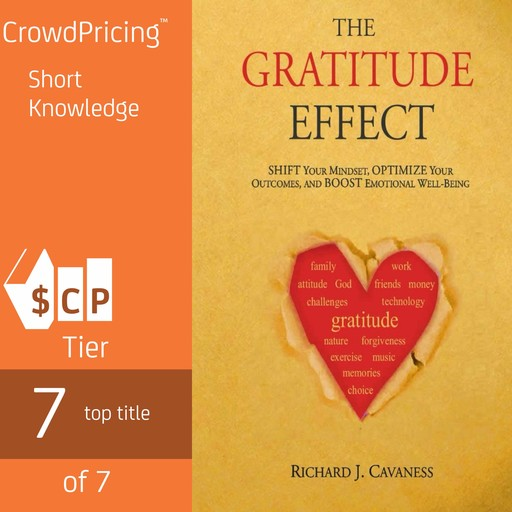 The Gratitude Effect: Shift your mindset, Optimize your outcomes, Boost emotional well being, Richard J Cavaness