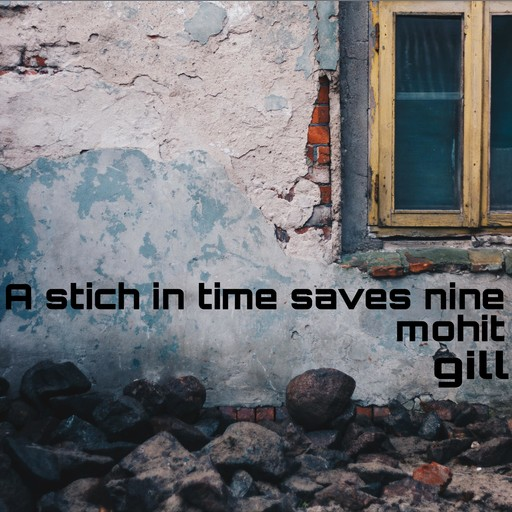 A stich in time saves nine, Mohit gill