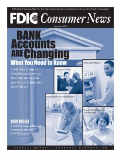Bank Accounts Are Changing, Federal Deposit Insurance Corporation