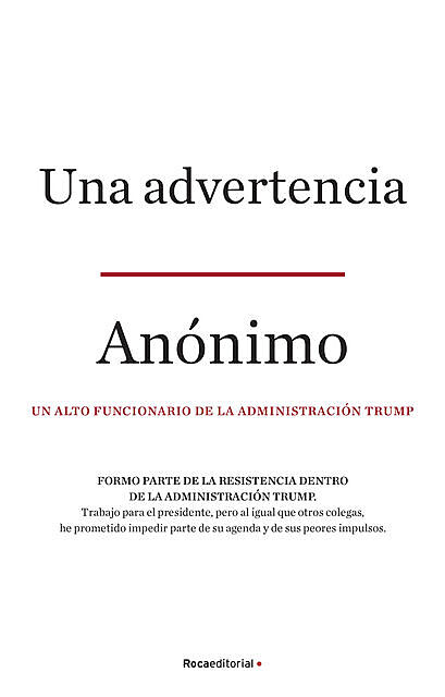 Una advertencia, Anónimo