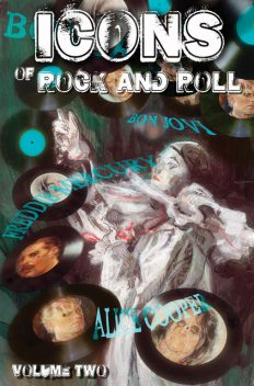 Icons of Rock and Rock Volume 2: David Bowie, Alice Cooper, Freddie Mercury and Bon Jovi Vol 1 #1, Michael frizell, Jayfri Hashim, Mike Lynch