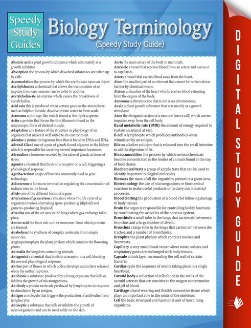 Biology Terminology (Speedy Study Guide), Speedy Publishing