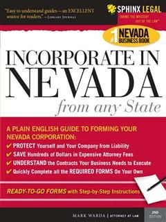Incorporate in Nevada from Any State, Mark Warda