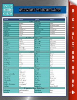 Spanish Vocabulary Speedy Study Guides, Speedy Publishing
