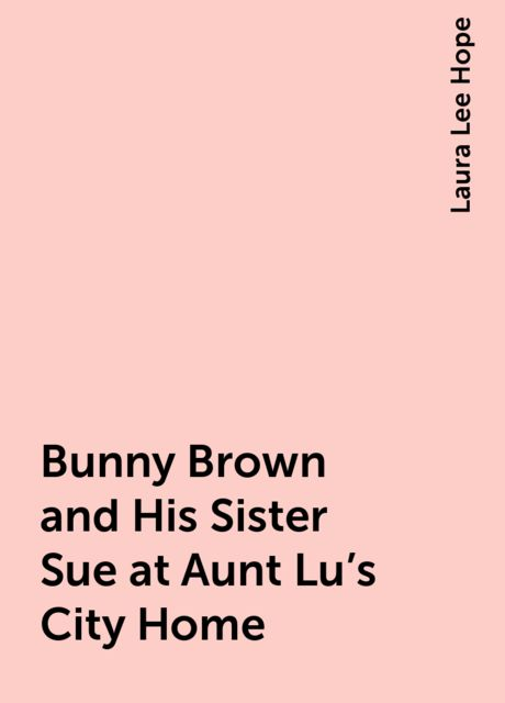 Bunny Brown and His Sister Sue at Aunt Lu's City Home, Laura Lee Hope
