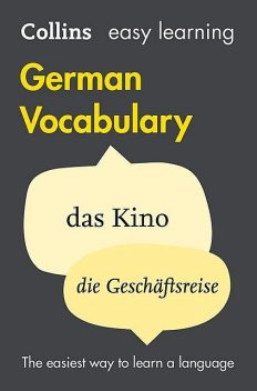 Easy Learning German Vocabulary, Collins Dictionaries