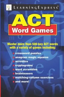 ACT Word Games, Michele R. Wells