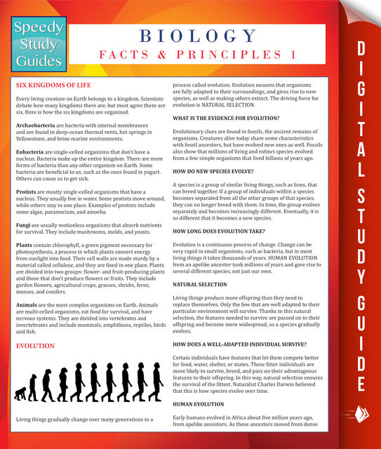Biology Facts And Principles 1 (Speedy Study Guides), Speedy Publishing