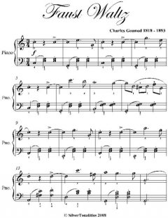 Faust Waltz Elementary Piano Sheet Music, Charles Gounod
