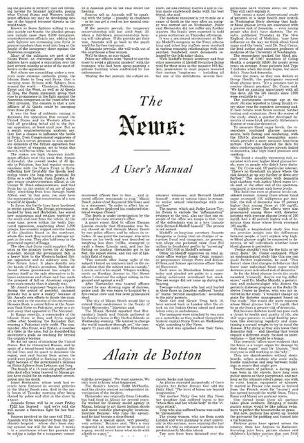The News: A User's Manual, Alain de Botton