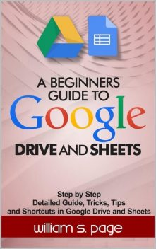 A BEGINNERS GUIDE TO GOOGLE DRIVE AND SHEETS: Step by Step Detailed Guide, Tricks, Tips and Shortcuts in Google Drive and Sheets, William, Page