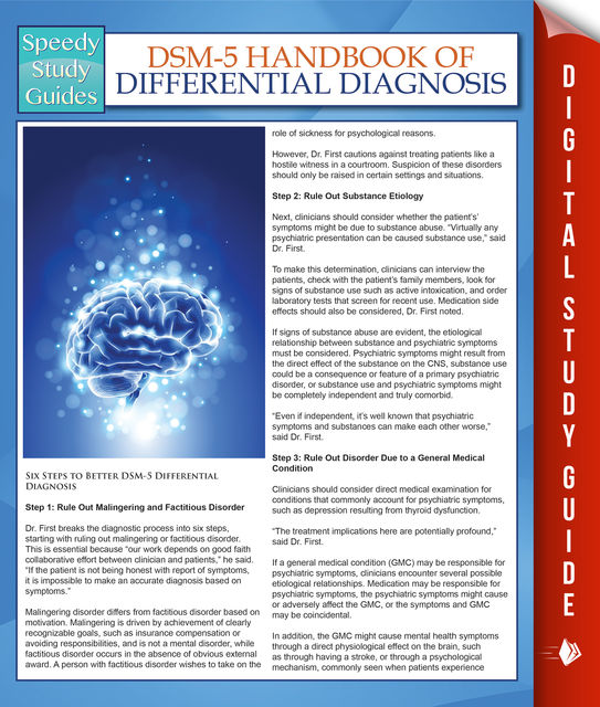DSM-5 Handbook Of Differential Diagnosis (Speedy Study Guides), Speedy Publishing