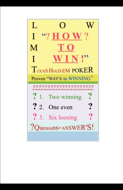 HOW to WIN, Donald Burks