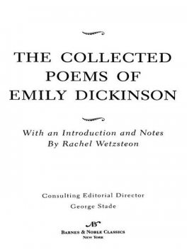 Collected Poems of Emily Dickinson (Barnes & Noble Classics Series), Emily Dickinson