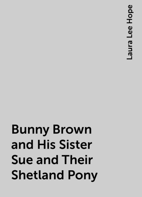 Bunny Brown and His Sister Sue and Their Shetland Pony, Laura Lee Hope