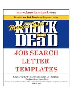 Knock Em Dead Job Search Letter Templates, Martin Yate