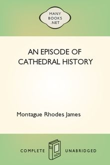 An Episode of Cathedral History, James Montague