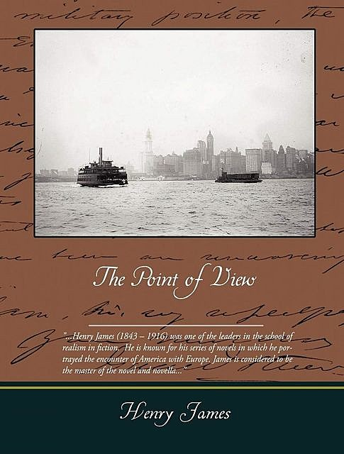 The Point of View, Henry James