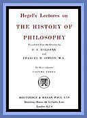 The History of Philosophy: Volume Three (of 3), Georg Wilhelm Friedrich Hegel