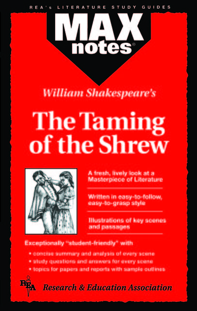 Taming of the Shrew, The (MAXNotes Literature Guides), Christopher Garcez