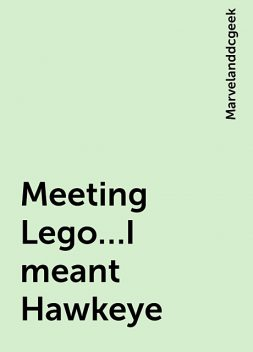Meeting Lego…I meant Hawkeye, Marvelanddcgeek