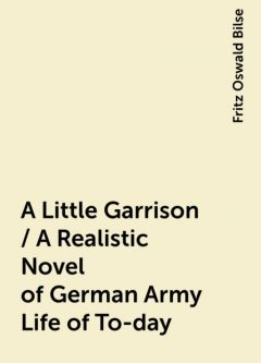 A Little Garrison / A Realistic Novel of German Army Life of To-day, Fritz Oswald Bilse