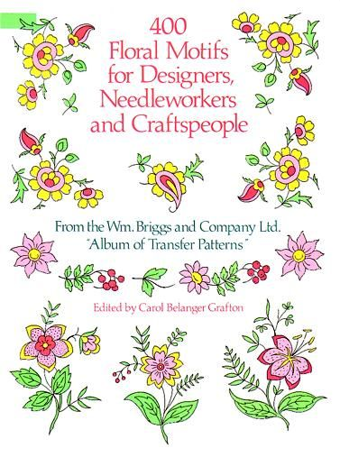 400 Floral Motifs for Designers, Needleworkers and Craftspeople, Co., Briggs
