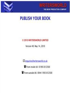 How To Publish Your Book, Graham Cook