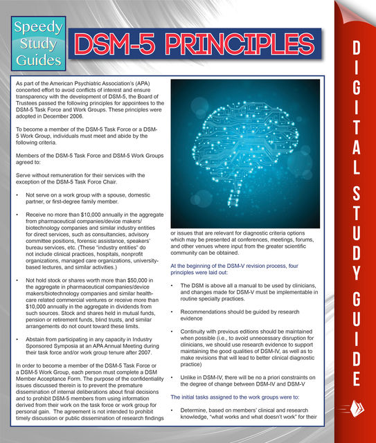 DSM-5 Principles (Speedy Study Guides), Speedy Publishing