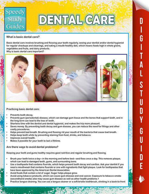 Dental Care (Speedy Study Guide), Speedy Publishing