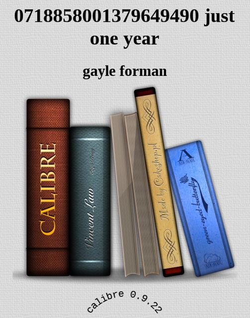 Just one year, Gayle Forman