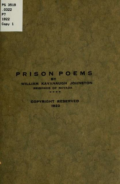 Prison Poems, William Johnston