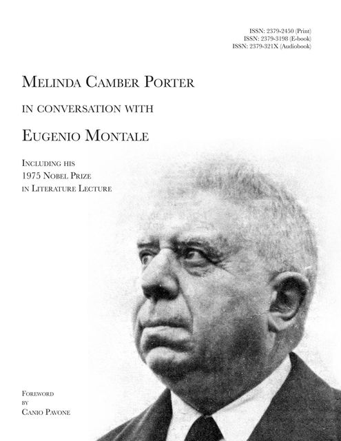 Melinda Camber Porter In Conversation With Eugenio Montale, Melinda Camber Porter, Canio Pavone, Eugenio Montale