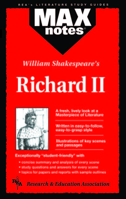 Richard II (MAXNotes Literature Guides), Michael Morrison