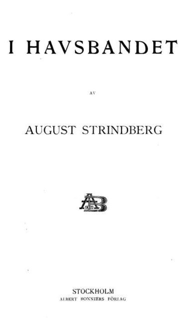 I Havsbandet, August Strindberg