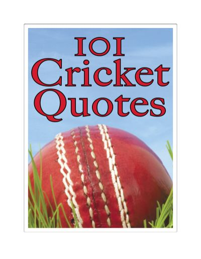 101 Cricket Quotes, Crombie Jardine