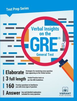Verbal Insights on the GRE General Test, Vibrant Publishers