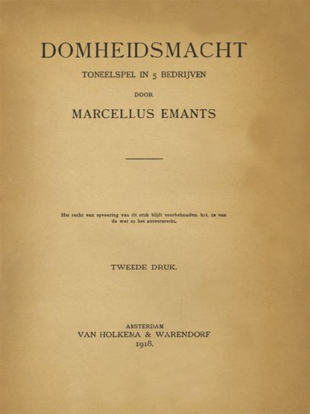 Domheidsmacht, Marcellus Emants