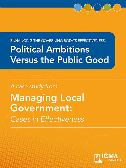Political Ambitions versus the Public Good, Jerry Kloby