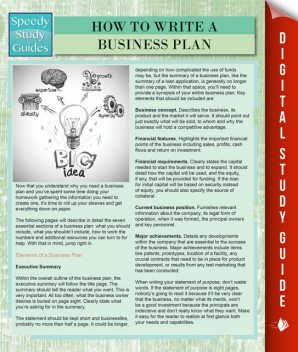 How To Write A Business Plan (Speedy Study Guides), Speedy Publishing