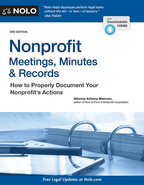 Nonprofit Meetings, Minutes & Records, Anthony Mancuso Attorney