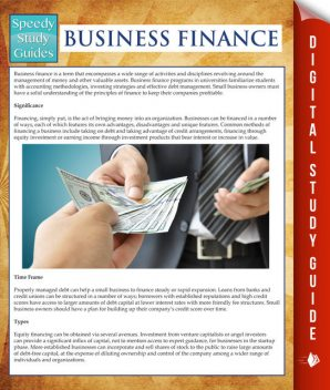 Business Finance (Speedy Study Guides), Speedy Publishing