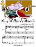 King William's March Easy Piano Sheet Music, Jeremiah Clarke
