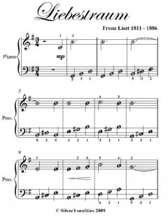 Liebestraum Easiest Piano Sheet Music, Franz Liszt