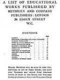 A List of Educational Works Published by Methuen & Company – June 1900, amp, Co, Methuen