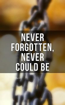 Never Forgotten, Never Could be, Olaudah Equiano, Booker T.Washington, William Still, Frederick Douglass, Jacob D.Green, Elizabeth Keckley, Louis Hughes, Nat Turner, Mary Prince, Solomon Northup, Harriet Jacobs, Sojourner Truth, Willie Lynch, Ellen Craft, William Craft, Sarah H. Bradfo