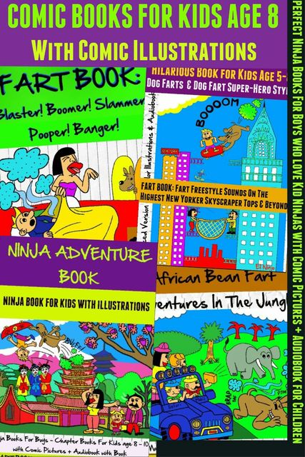 Comic Books For Kids Age 8 – Comic Illustrations – Ninja Books For Boys – Kid Ninjas, El Ninjo